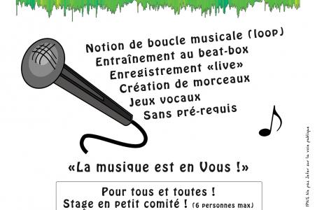 Stage Loop Beatbox, la musique est en vous !