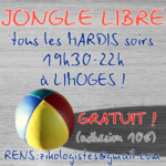Créneau JONGLERIE à LIMOGES en 2018-2019